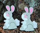 2 Bunny rabbit QUILT CLIPS/hangers farmyard wall decor