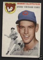 Johnny Klippstein Chicago Cubs 1954 Topps Card #31