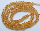 CITRINE 4-4.5mm FACETED Rondell Gemstone Beads 14""