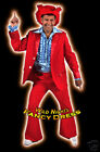 FANCY DRESS COSTUME * DELUXE 70'S DISCO SUIT RED LG
