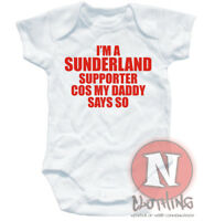 SUNDERLAND SUPPORTER football baby suit 6-12 month