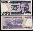 TURKEY 500000 500,000 LIRA P212 1998 1/2 MILLION ATATURK MONUMENT UNC BANK NOTE
