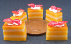 1:12 Scale 5 Orange Cakes Strawberries Dolls House Kitchen Food Miniature PL107