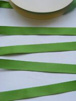 3 metres of 15 mm wide MEADOW Green double satin ribbon