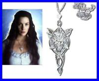 LOTR Lord Rings ARWEN PENDANT EVENSTAR Silver OFFICIAL Certificate Velvet BAG