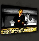 SCARFACE AL PACINO GUN MOVIE CANVAS PRINT POP ART MANY SIZES TO CHOOSE FROM