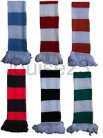 X14 FOOTBALL SUPPORTERS RETRO BAR STRIPE SCARF FOOTBALL CLUB WINTER WARM SNOOD