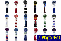 New - Premier League Football Golf Pom Pom Wood Head Covers Driver & Fairway