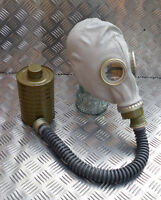 Genuine Rubber Gas Mask with Hose and Filter - NEW.