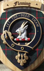 Scottish Gifts Fleming Family Clan Crest Wall Plaque