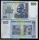 ZIMBABWE 100 DOLLARS P69 2007 REPLACEMENT ZA UNC CURRENCY MONEY BILL BANK NOTE