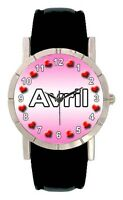 Name - Avril Mens Ladies Genuine Leather Band Water Resistant Wrist Watch SA1706