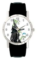 Halloween Witch With Crystal Ball Mens Ladies Genuine Leather Wrist Watch SA2391