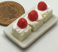 1:12 Tray Of Strawberry Lemon Slices Dolls House Miniature Cake Accessories PL38