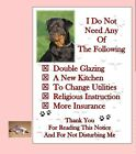 Rottweiler Dog (2) House Sign + Suction Cup