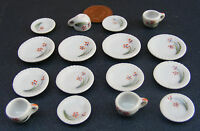 1:12 Scale 16 Piece Hand Painted Ceramic Tea Set Dolls House Miniature 25 Dining