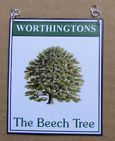 1:12 Scale The Beech Tree Pub Sign Dolls House Miniature Bar Accessory