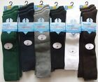 K12 GIRLS 6prs COTTON RICH KNEE HIGH SOCKS BACK TO SCHOOL 9-12 / 12-3 / 4-6 COLS