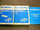 1989 Subaru 1800 Service Repair Shop Manual SET FACTORY OEM BOOKS RARE 89