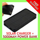 Solar Battery Charger 5000mAh Dual USB Power Bank for iPhone 3 3Gs 4 4s 5 5s