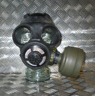 Genuine Black Rubber Gas Mask with Filter - Size: Adjustable - Brand NEW