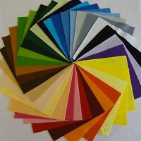 """9"""" Felt Squares Wool Blend Craft   2,5 or 10 pieces - pick your own colours"""