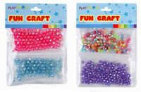 2 PACKS 3D BEADS JEWELLERY & CRAFT ASSORTED LILAC PINK BLUE GREEN CLEAR L70 073