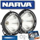 NARVA EXTREME PENCIL SPOT BEAM DRIVING LIGHTS PAIR LAMPS KIT NEW BLACK RIM 71760