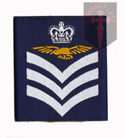 Pair of Official Flight Sergeant Aircrew Royal Air Force Rank Slides  RAF ( NEW