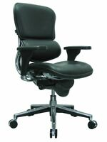 NEW Raynor Ergohuman Ergonomic Office Chair - Black Leather w Low Back LE10ERGLO