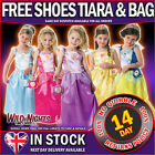Disney Princess Girls Fancy Dress Complete Costume Kit Age 3 4 5 6 7 8