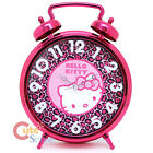 Sanrio Hello Kitty Pink Leopard Bell Alarm Clock Wall Clock - 13in Watch