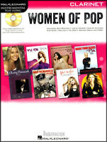 Women of Pop Play-Along Clarinet Muisic Book/CD Adele Pink Beyonce Taylor Swift