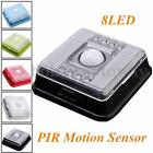 PIR Infrared 8 LED Auto Motion Sensor Detector Indoor Night Light Lamp Wireless