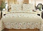 3pc 100% Cotton Multicolor Floral Print Luxury Quilt Set King
