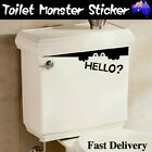 Toilet Monster Funny Bathroom Seat Decor Removable Vinyl Sticker Wall Art Decal