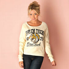 Brave Soul Womens Harlem Tigers Sweat In Cream From Get The Label OCTFD