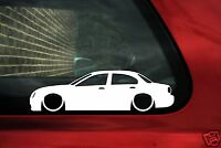 2x LOW Jaguar S-Type  Silhouette,car outline stickers, Decals