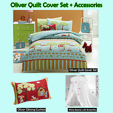 OLIVE Puppies - Quilt Cover Set, Cushion, Canopy, - Single Double Queen