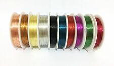 Copper Wire Beading Tiara Making Wrapping Jewellery 0.3mm-1mm CHOOSE SIZE COLOUR