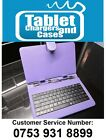 "Purple USB Keyboard Case/Stand for 7"" Tesco Hudl Android Jelly Bean Tablet PC"