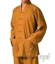 High quality clothing popular shaolin short gown monks uniforms buddhist yellow