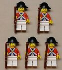 NEW 5 Lego Pirate Minifigs Imperial Armada Soldiers RED w/ RIFFLE GUNS