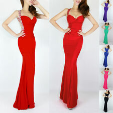 CHEAP Sequins Mermaid Long Prom Bridesmaid Dresses Backless Formal Evening Gown