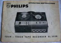 Instructions reel to reel tape recorder PHILIPS four track EL 3558
