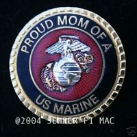 PROUD MOM OF A US MARINE PIN SON DAUGHTER DAD WM 1 MCRD GRADUATION BOOT CAMP WOW
