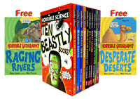 Horrible Science Collection 10 Beastly Books Box Set + 2 Horrible Geography Free