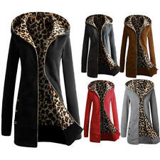 SIZE 8-26 WINTER SEXY LADIES JACKET HOODED JUMPER COAT SWEAT ZIP HOODIE OUTWEAR