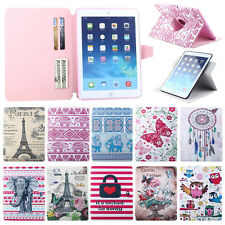 Cute Card Clip Flip Leather 360° Stand Soft Skin Case Cover For Apple iPad 2/3/4