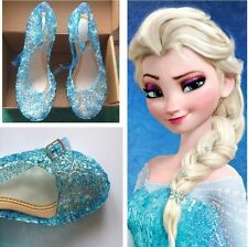 Blue Frozen Cinderella Cosplay Shoes Gift Party Dress Up Girls Gift Sandals
